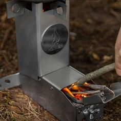 With the Hot Ash, we realized that we could make a camping, bushcraft stove that made it easy to cook, boil water.