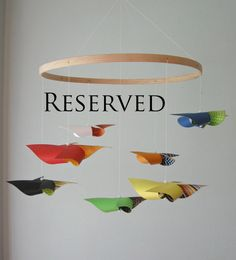 Custom Baby Crib Mobile Reserved for Elizabeth by mamax2 on Etsy
