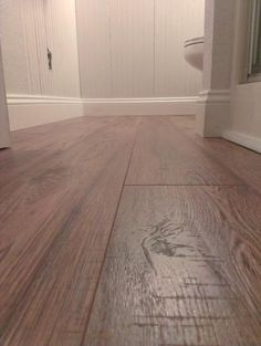 Hampton Bay Hand Scraped Oak Burnt Caramel 8 Mm Thick X 5 1 2 In Wide X 47 7 8 In Length