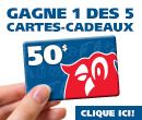 Le Journal de Montréal et le Journal de Québec t'offrent la chance de gagner l'une des 5 cartes-cadeaux de 50$    Plus tu partages, plus tu as de chance de gagner!     N'oublie pas de cliquer « j'aime » sur la page Facebook de Couche-Tard.