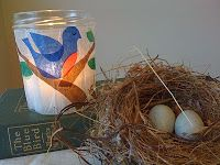 we bloom here: A Bluebird Picture Lantern (and a Bluebird Story for You)