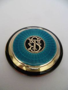 enamel and silver compact