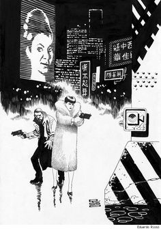 Blade Runner by Eduardo Risso. This might be the most logical pairing ever.