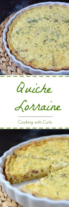 You need to serve this delicious Quiche Lorraine at your next Brunch. Your family will love you forever | cookingwithcurls.com