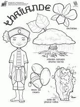 Coloriage des Pays du Monde sur Hugolescargot.com