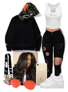 """Untitled #237"" by lanadabest ❤ liked on Polyvore featuring NIKE, Helen Moore, MLC Eyewear, Belk & Co. and Moschino"