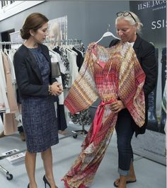 Crown Princess Mary browses through Danish fashion in Canada