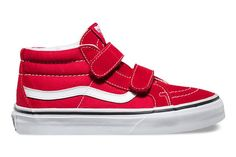 Who doesn't want this Velcro take on the classic?Vans Kids Sk8-Mid Reissue V, $40, available at Vans.  #refinery29 http://www.refinery29.com/kids-vans-shoes#slide-1