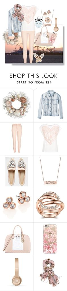 """""""Sunset walk on the pier"""" by easy-dressing ❤ liked on Polyvore featuring Pier 1 Imports, RVCA, River Island, ASOS, Michael Kors, GUESS, Casetify, Beats by Dr. Dre, Kate Spade and women's clothing"""