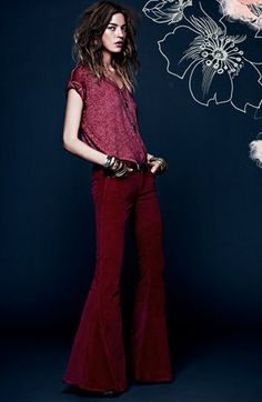 Free People Tee & Corduroy Pants available at #Nordstrom