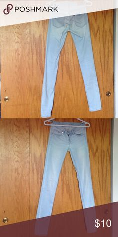 DIVIDED faded jeans Women's faded skinny jeans with super low cut and stretch fit H&M Jeans Skinny