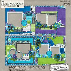 Monster In The Making - QuickPage Album :: 12x12 Quick Pages :: Hybrid, Quickpages & Printables :: SCRAPBOOK-BYTES