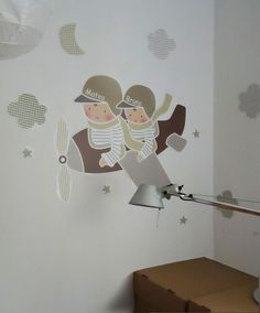 VINILOS INFANTILES PERSONALIZADOS Kids Room Art, Kids Room Design, Baby Bedroom, Kids Bedroom, Whimsical Nursery, Childrens Bedroom Decor, 257, Kids Wall Decor, Girl Decor