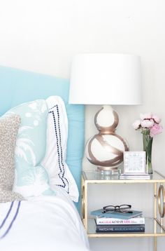Nightstand decor: http://www.stylemepretty.com/living/2015/07/29/the-65-most-beautiful-style-me-pretty-interiors/