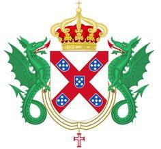 Armas da Sereníssima Casa de Bragança, após 1581.