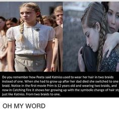 THEY DID THINK #katniss #primrose #braids #thehungergames #thg
