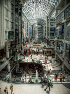 Toronto's Eaton Centre (HDR) it's big Oh The Places You'll Go, Places To Travel, Places Ive Been, Hdr Pictures, Eaton Centre, Toronto Ontario Canada, Hdr Photography, Quebec City, Shopping Center