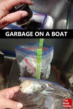 Boats don't have garbage disposers! So how do you deal with garbage? A few suggestions for dealing with food scraps. via @TheBoatGalley #boatingideas