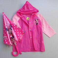Kit infantil lluvia (pilot + paraguas) Minnie TALLE G Cod 2165 Kit infantil lluvia (pilot + paraguas) Minnie TALLE M Cod 2164