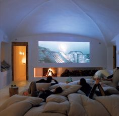 Movie nights at home/living room campouts