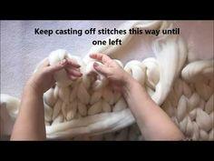 Easy Alternative to Arm Knitting - Hand Knit Chunky Scandi Blanket - YouTube