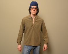 vintage hippie pullover shirt brushed by CarnivalOfTheManiac
