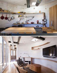 Thrice-Sliced Steel Silo Used as a Single-Story Solar Home