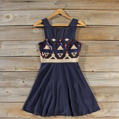 Stone Spell Beaded Dress in Navy, Sweet Native Inspired Dresses from Spool 72. | Spool No.72