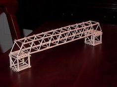 How To Build A Simple Toothpick Bridge - WoodWorking Projects & Plans Bridge Model, Bridge Structure, Building Structure, Steel Structure, Team Building, 3d Modelle, Woodworking Projects For Kids, Woodworking School, Roof Trusses