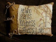 Gather love prim pillow, ebay.com