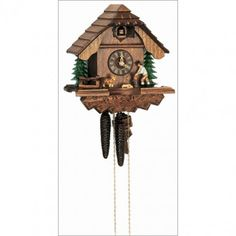 Have another round with this Schneider Black Forest cuckoo clock. Made in the Black Forest region of Germany, this chalet style clock unites two of Germany's most valued cultural traditions: drinking beer and making cuckoo clocks. Every detail on this clock is handcrafted by skilled artisans and made from real Black Forest linden wood, including the dog, and the German beer drinker who toasts his glass every half hour with the strike and call of the cuckoo.$311.40