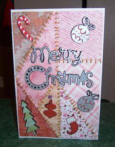 Christmas Card made several years ago, using my cricut machine
