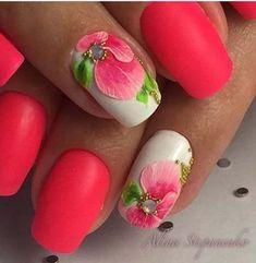 Summer Nail Designs - My Cool Nail Designs Great Nails, Cute Nail Art, Cute Nails, Nail Designs Spring, Toe Nail Designs, Spring Nails, Summer Nails, Unicorn Nail Art, French Acrylic Nails