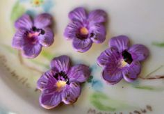 N929G Vintage Pansy Findings Stampings Hand by purpleviolets77