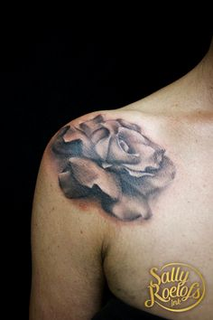 realistic rose tattoo on colorbone Realistic Rose Tattoo, Print Tattoos, Sally, Ink, India Ink