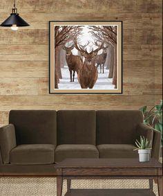 Deer Descending #walldecorart #wallart #gicleeprint #deerprint #lodgeart #animalart #wildlifeart #homedecor #autism #autismawareness (unframed)