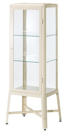 FABRIKÖR Glass-door cabinet IKEA With a glass-door cabinet, you can show off as. FABRIKÖR Glass-door cabinet IKEA With a glass-door cabinet, you can show off as well as protect your glassware or your favorite collection. Display Cabinets Ikea, Ikea Cabinets, Storage Cabinets, Glass Cabinet Doors, Glass Shelves, Glass Door, Cabinet Space, Glass Cabinets, Wall Shelves
