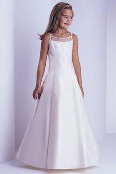 Floor Length First Communion Dresses For Girls Wedding Party,Robe Communion Children Bridesmaid Dress,Lovely Simple A-Line Cheap Flower Girl Dresses Toddler Gown