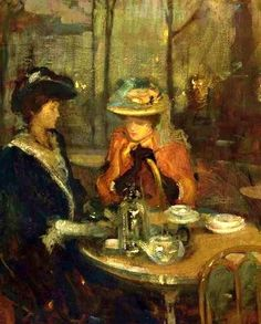 The Athenaeum - Teatime (Richard Edward Miller - No dates listed)