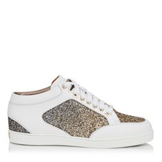 b9b032036d MIAMI. Designer Shoes OnlineTrending TodayLuxury ShoesLeather HeelsMetallic  LeatherHigh Top SneakersMiamiFootwearAntique Gold. Jimmy Choo ...