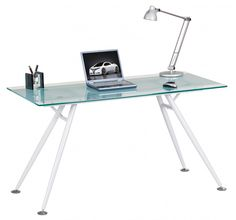 Alphason Springfield | Contemporary Glass Office Computer Desks