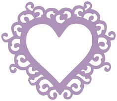 Paper This And That: Swirly Heart Frame - New SVG File
