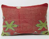 coral kilim pillow 16x24 modern decor modern home decor decorative bed pillow throw pillow cases kilim rug pillow turkish pillowcase 21213