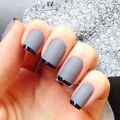 francesinha - cinza com ponta preta