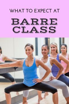 What to expect at a barre class - my experience taking my first barre class.