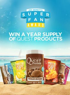 WIN a YEAR supply of Quest products! Visit our Joy Remetta Super Fan Award for details. Low Carb Recipes, Snack Recipes, Snacks, Quest Nutrition, Chocolate Milkshake, Loose Weight, Goodies, Projects To Try, Chips