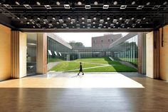 Open Architecture - Gehua Youth and Cultural Center, Qinhuangdao, China - Creates an organic and natural point of view that draws people to the heart of the building. Theater Architecture, Open Architecture, Contemporary Architecture, Landscape Architecture, Landscape Design, Youth Center, Outdoor Theater, Cultural Center, Outdoor Landscaping