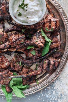 Mediterranean Grilled Lamb Chop Recipe with Tomato MIint Quinoa Lamb Chop Recipes, Meat Recipes, Cooking Recipes, Healthy Recipes, Mediterranean Spices, Mediterranean Diet Recipes, Armenian Recipes, Turkish Recipes, Lamb Dinner