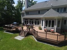 Deck Picture in Flemington NJ, Lippert Deck - Picture 1313 Backyard Patio Designs, Backyard Ideas, Patio Ideas, Decking Ideas, Railing Ideas, Deck Railings, Backyard Pergola, Pergola Ideas, Outdoor Ideas