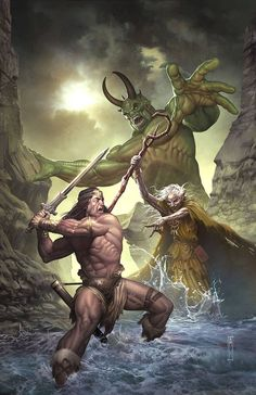 A while a go,did the cover for Dark Horse Comic,Conan the Slayer allot of fun doing it was done in Photoshop CS tablet and pencil and pape. Dark Horse Conan the Slayer Darkhorse Comics, Fantasy Warrior, Fantasy Artwork, Conan The Destroyer, Conan Comics, Conan The Barbarian, Barbarian Movie, Sword And Sorcery, Red Sonja